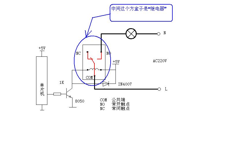 继电器的控制电压为5v