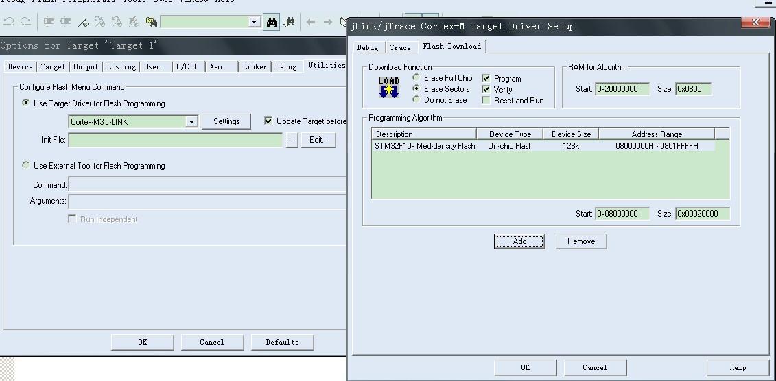 stm32一步一步建立jlink调试