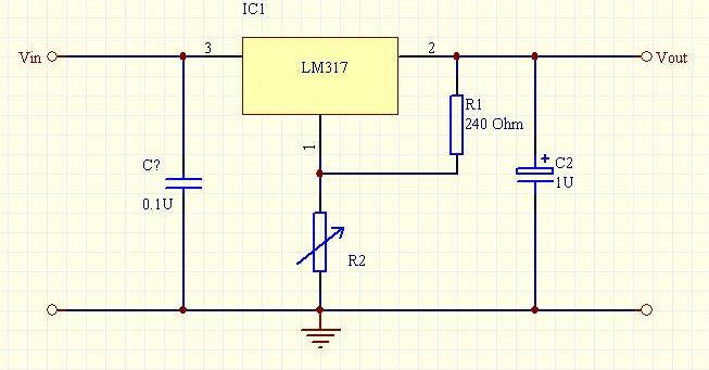 lm317稳压电路 输出电压计算