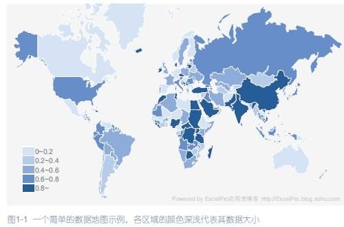 在国外的商业杂志上,我们经常会看到一些运用地图来分析商业,经济数据