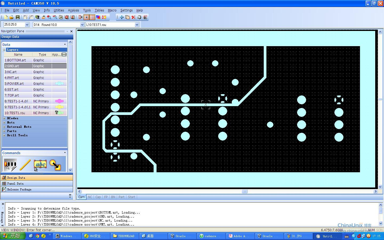我以为TOP为例,其他的层,按着这个步骤,操作就行了。我们在颜色设置里面设置top的东西,只显示TOP层的东西,丝印啊,阻焊层,阻焊层都不要,只要TOP的走线和焊盘,还有过孔。这样就把和TOP有关的层添加到TOP集合里面了,其他的层都用这个方法操作。然后生成光绘,GND和POWER层,我使用了负片,.