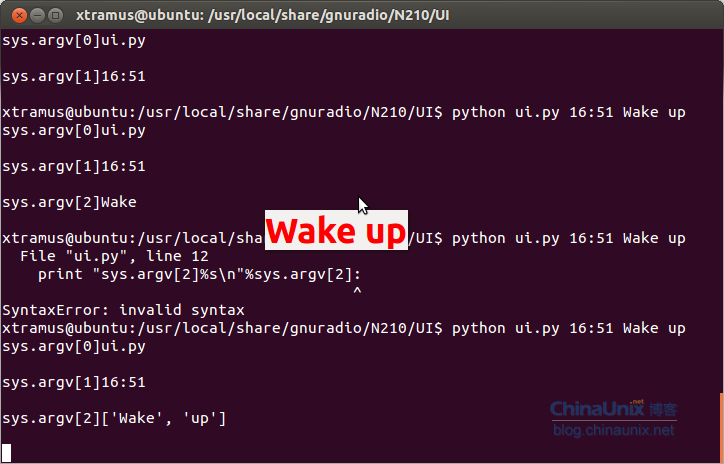 erict调试python的sys.argv下标问题