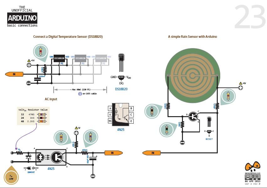 arduino: 各种arduino基础器件的用法图