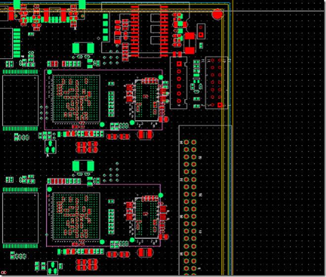 执行命令:File → Import → Placement.将16.3中复用好的DDR零件组导进到15.5.1中。 7. 将其中一个小系统右边DDR部分布好线,把等长绕好后,通过复制,将对应的孔和线贴到另外一个DDR上去。