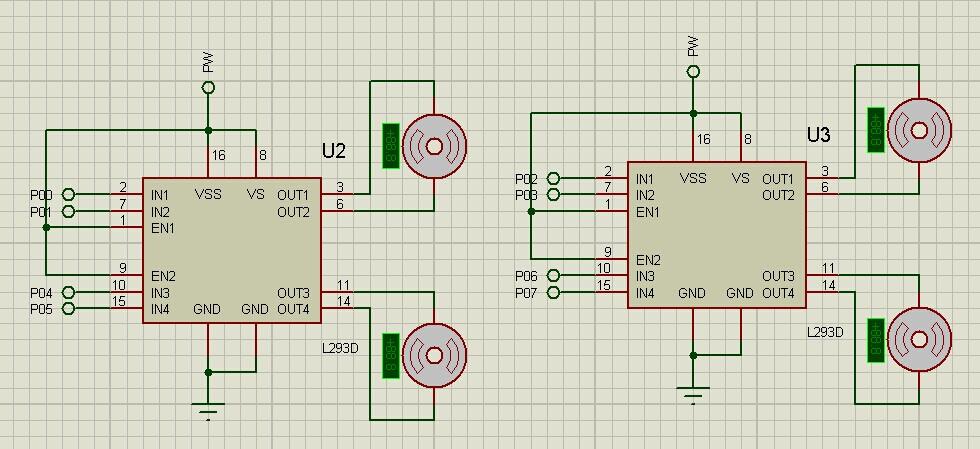 开启总中断  tr2=1;//开启定时器  2 } 2,直流电机驱动芯片l293d  4