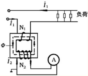 图2电流互感器的测量原理图-电压互感器二次侧不能短路和电流互感器图片